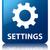 engrenagens · ícone · azul · praça · botão - foto stock © faysalfarhan