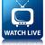 watch live tv icon glossy blue reflected square button stock photo © faysalfarhan