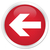 atrás · flecha · icono · rojo · botón · signo - foto stock © faysalfarhan