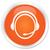 servicio · al · cliente · icono · naranja · botón · negocios · micrófono - foto stock © faysalfarhan
