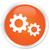 process icon orange button stock photo © faysalfarhan