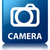 camera glossy blue reflected square button stock photo © faysalfarhan