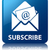 subscribe newsletter email icon glossy blue reflected square b stock photo © faysalfarhan