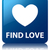 Find love glossy blue reflected square button stock photo © faysalfarhan