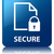 secure document glossy blue reflected square button stock photo © faysalfarhan