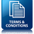 Terms & conditions glossy blue reflected square button stock photo © faysalfarhan