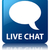 dienst · Blauw · live · chat · knop · klanten - stockfoto © faysalfarhan