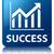 success statistics icon glossy blue reflected square button stock photo © faysalfarhan