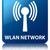 wlan network glossy blue reflected square button stock photo © faysalfarhan