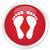 ślad · ikona · czerwony · przycisk · internetowych · sylwetka - zdjęcia stock © faysalfarhan