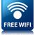 Free wifi glossy blue reflected square button stock photo © faysalfarhan