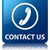 Contact Us (phone icon) glossy blue reflected square button stock photo © faysalfarhan