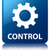 control settings icon glossy blue reflected square button stock photo © faysalfarhan