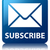 subscribe email icon glossy blue reflected square button stock photo © faysalfarhan
