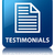 testimonials quote page icon glossy blue reflected square butt stock photo © faysalfarhan