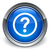 question mark round border icon glossy blue button stock photo © faysalfarhan