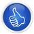 Like icon blue button stock photo © faysalfarhan