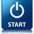 開始 · 青 · 広場 · ボタン · ウェブ - ストックフォト © faysalfarhan