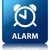 Alarm glossy blue reflected square button stock photo © faysalfarhan