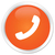 telefono · icona · arancione · pulsante · telefono · segno - foto d'archivio © faysalfarhan