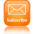 subscribe glossy orange reflected square button stock photo © faysalfarhan