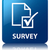 survey glossy blue reflected square button stock photo © faysalfarhan