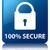 100 secure padlock icon glossy blue reflected square button stock photo © faysalfarhan