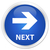 próximo · azul · botón · signo · web · blanco - foto stock © faysalfarhan