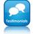 testimonials glossy blue reflected square button stock photo © faysalfarhan