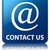contact us email address icon glossy blue reflected square but stock photo © faysalfarhan