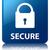 secure glossy blue reflected square button stock photo © faysalfarhan