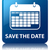 save the date glossy blue reflected square button stock photo © faysalfarhan