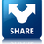 share glossy blue reflected square button stock photo © faysalfarhan