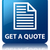 get a quote page icon glossy blue reflected square button stock photo © faysalfarhan