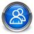 persoon · teken · Blauw · knop · 3D · zeshoek - stockfoto © faysalfarhan