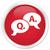 Question mark icon red button stock photo © faysalfarhan