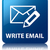 write email glossy blue reflected square button stock photo © faysalfarhan
