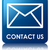 Contact us (email icon) glossy blue reflected square button stock photo © faysalfarhan