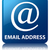 email address glossy blue reflected square button stock photo © faysalfarhan