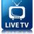 live tv glossy blue reflected square button stock photo © faysalfarhan