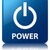 power glossy blue reflected square button stock photo © faysalfarhan