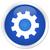processo · engrenagens · ícone · azul · botão - foto stock © faysalfarhan