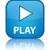 spelen · Blauw · vierkante · glanzend · web · icon · witte - stockfoto © faysalfarhan