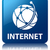 internet global network icon glossy blue reflected square butt stock photo © faysalfarhan