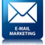e mail marketing glossy blue reflected square button stock photo © faysalfarhan