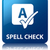 spell check glossy blue reflected square button stock photo © faysalfarhan