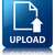 Upload glossy blue reflected square button stock photo © faysalfarhan
