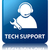tech support glossy blue reflected square button stock photo © faysalfarhan