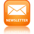 Newsletter glossy orange reflected square button stock photo © faysalfarhan
