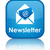 newsletter glossy blue reflected square button stock photo © faysalfarhan